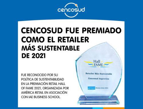 ✔MARCAS Cencosud fue premiado como el retailer más sustentable de 2021